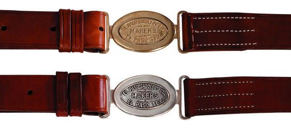 El Paso Saddlery Sporting Belt – Silver