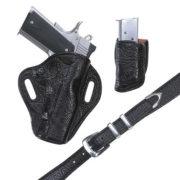 Exotic Belt- Black Spanish Bull- Belt Only – El Paso Saddlery