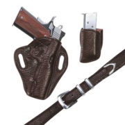 Exotic Belt- Brown Spanish Bull – Belt Only – El Paso Saddlery