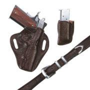 Exotic Belt- Brown Spanish Bull – Belt Only – El Paso Saddlery