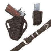 Exotic Belt – Choclate Shark- Belt Only – El Paso Saddlery
