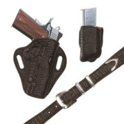 Exotic Crosshair – Choclate Shark – Holster, Belt and Pouch – El Paso Saddlery