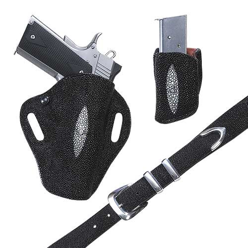 Exotic Crosshair – Stingray- Holster, Belt and Pouch – El Paso Saddlery
